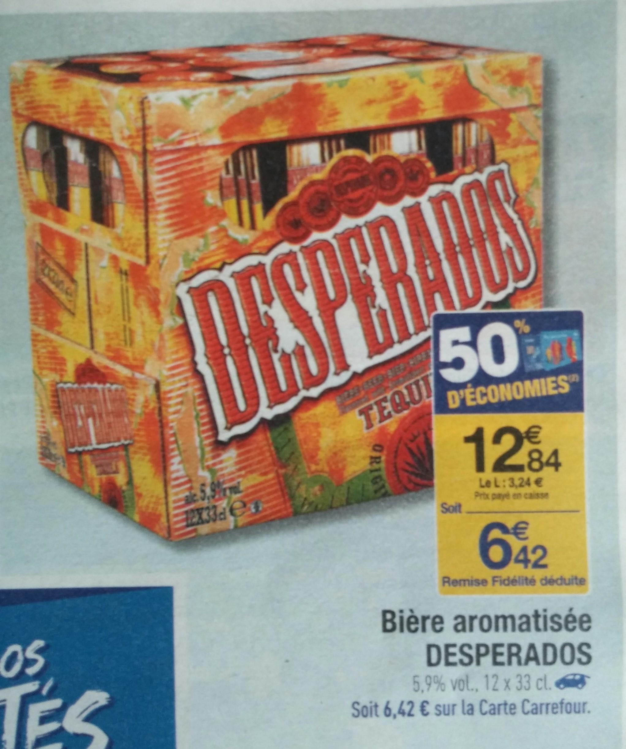 Pack de 12 Bières Desperados - 12x33cl (via 6.42€ sur carte de fidélité)
