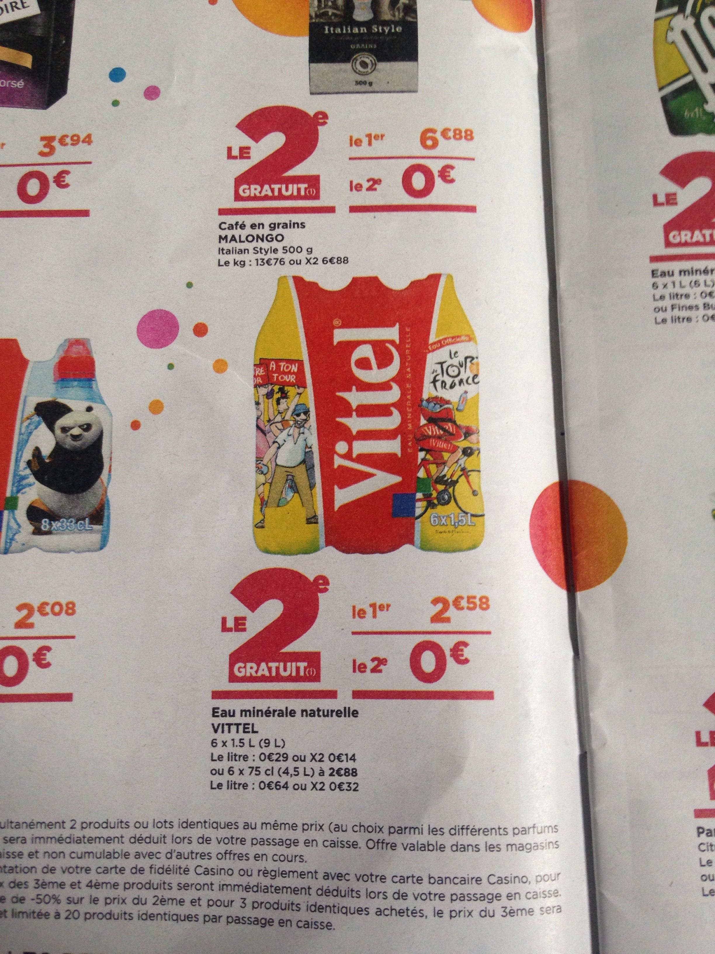 2 Packs de 6 Bouteille d'eau Vittel - 12x1.5L