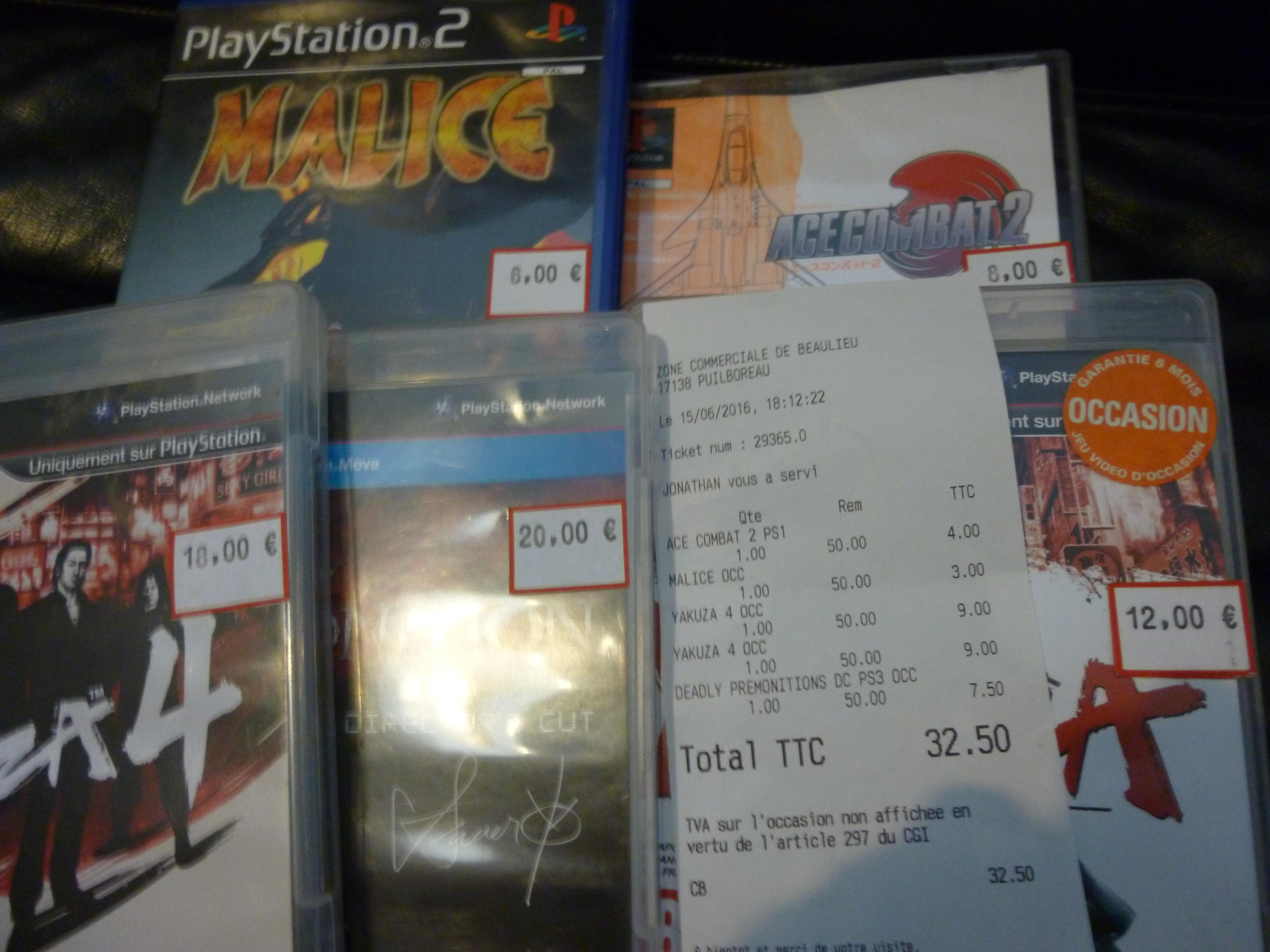 50% de réduction sur tout le magasin - Ex : Jeu Ace combat 2 sur PS1