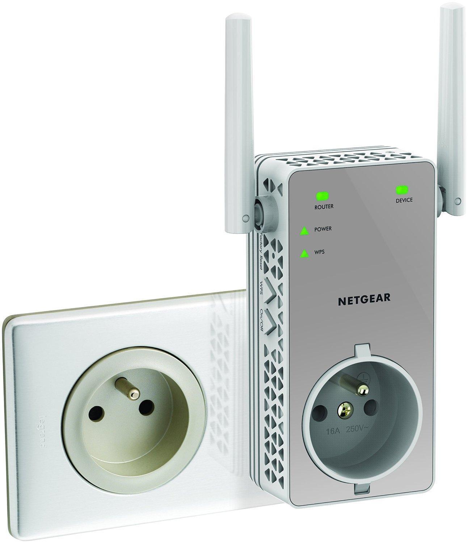 Répéteur Wi-Fi Netgear EX3800-100FRS AC750 Mbps - Blanc