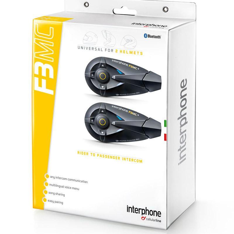 Interphone moto Cellular line F3MC Twin Pack