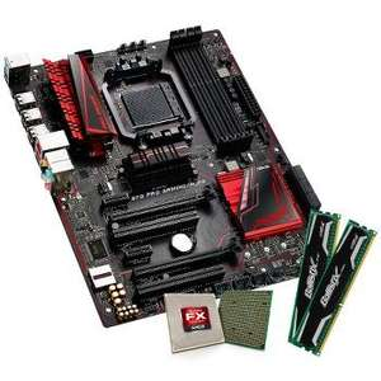Kit évolution - AMD FX-6300 (Black Edition) + carte mère Asus 970 Pro Gaming/Aura + RAM Crucial Ballistix Sport DDR3 CL9 (2x4 Go)