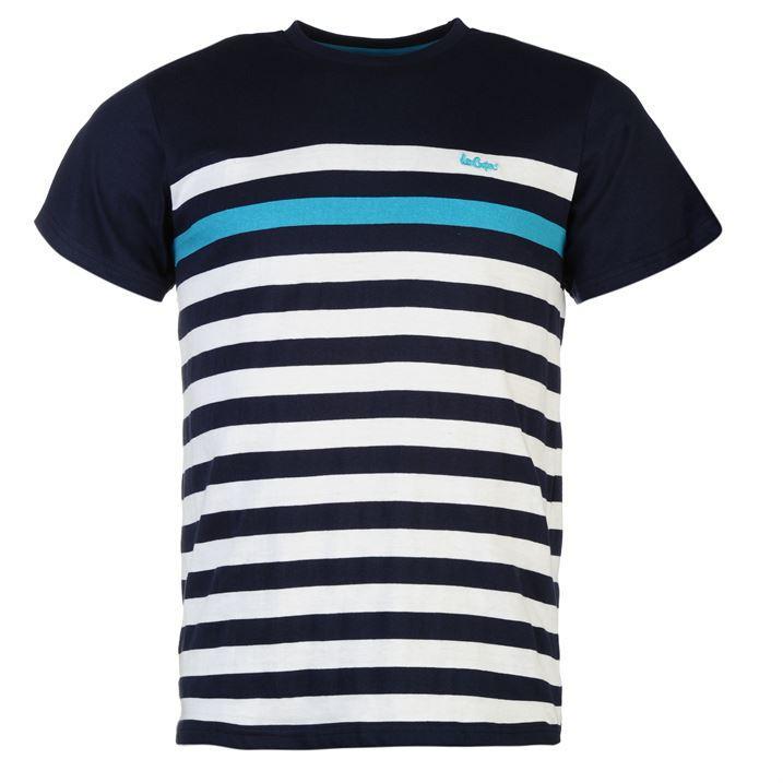 Sélection de vêtements Lee Cooper en promotion - Ex : tee-shirt C Yarn Dye Crew Neck (différentes tailles)