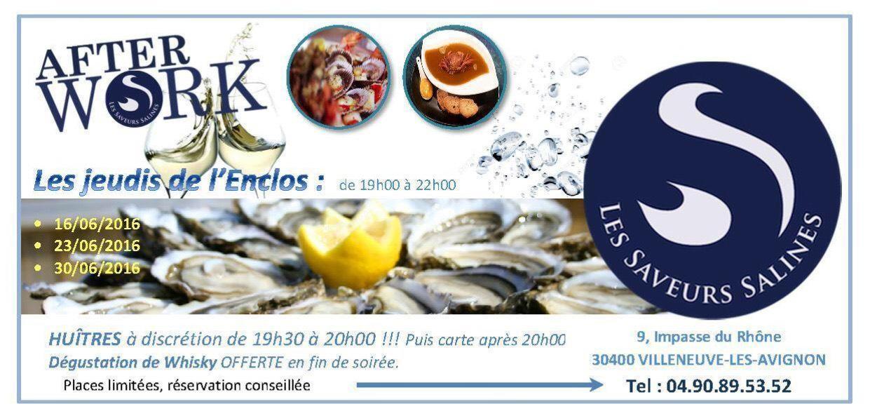 Dégustation d'huître offerte de 19h30 à 20h tous les jeudis du mois de Juin