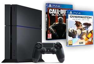 Pack Console PlayStation 4 500go + Owerwatch + Call of Duty : Black Ops III