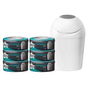 Pack poubelle à couches Tommee Tippee  + 6 recharges  Sangenic