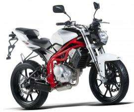 Moto MH Gun 125 R - Blanc/Rouge
