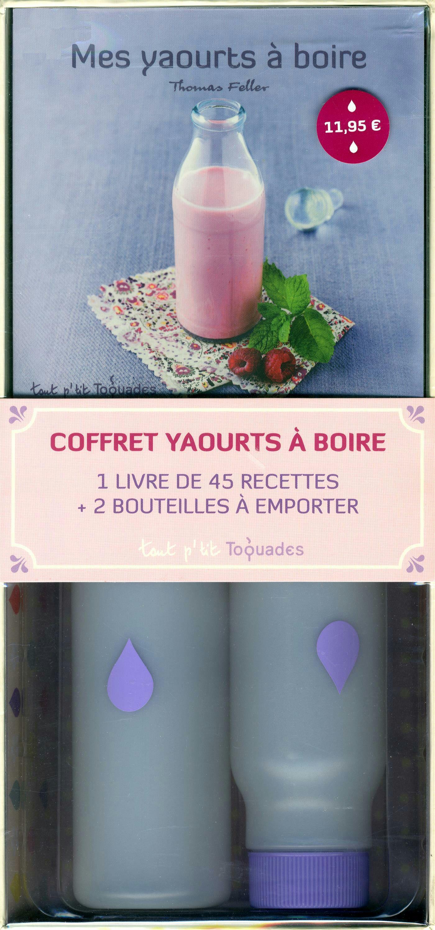 Coffret Mes yaourts à boire Thomas Feller - 2 bouteilles + Livre de 45 recettes