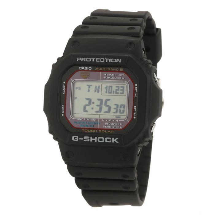 [Cdiscount à volonté] Montre Casio G-Shock GW-M5610-1ER - Radio-pilotée, Solaire, Antichoc, Étanchéité 200m, 5 Alarmes