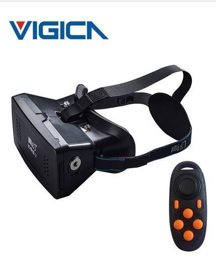 """Casque de Réalité Virtuelle Ritech II (3.5"""" à 6"""") + Contrôleur Bluetooth"""