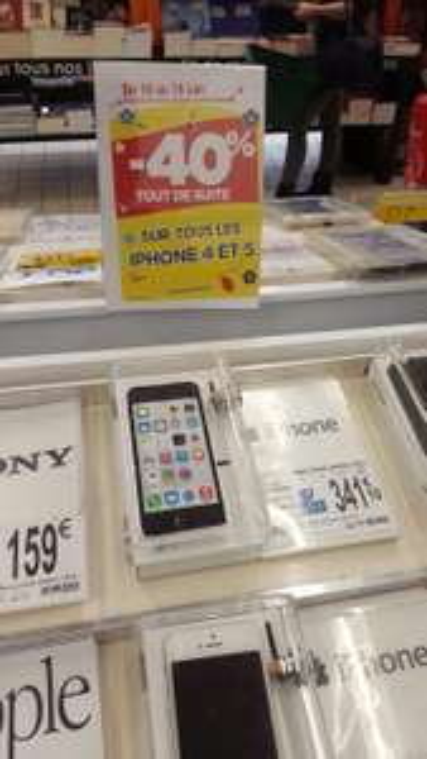 40% de reduction sur tous les iPhone 4 et 5