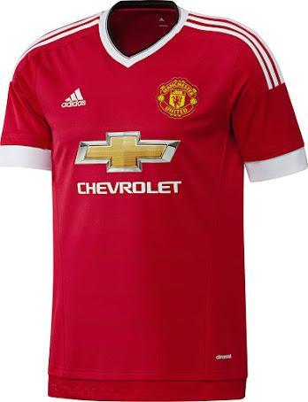Maillot de foot Manchester United 2015/2016 (Taille M à XL)