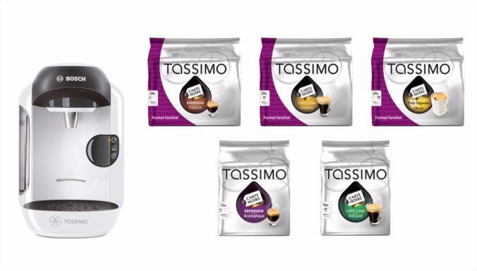Promotion sur une sélection de machines à café Tassimo (dosettes incluses) - Ex: Machine à café Vivy + 5 boîtes de café