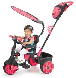 Tricycle 4-en-1 Little Tikes - Deluxe Edition-Neon Pink