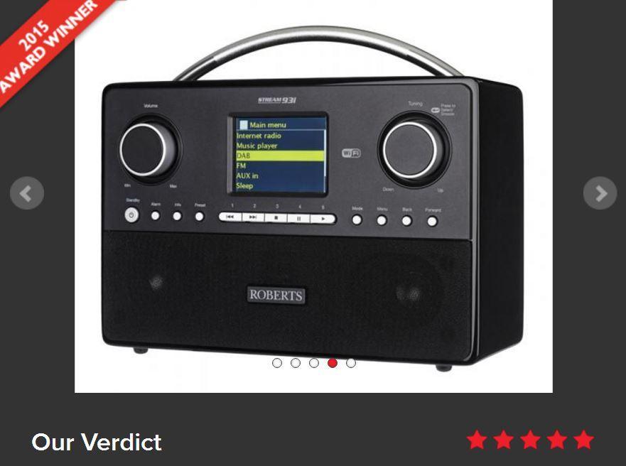 Radio Réseau Roberts Stream93i - Télécommande, DAB, FM, Spotify, USB, Ethernet/Wi-Fi