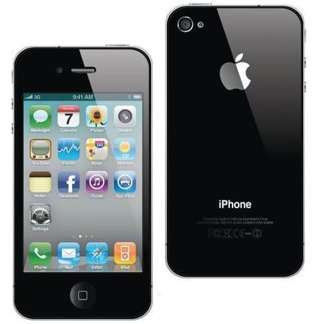 """Smartphone 3.5"""" Apple iPhone 4S - 8Go, Noir, Reconditionné"""
