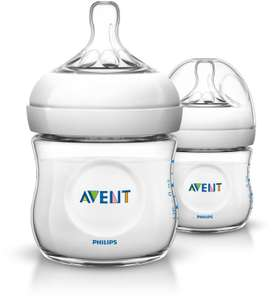 Lot de 2 biberons Philips Avent Natural PP 125ml