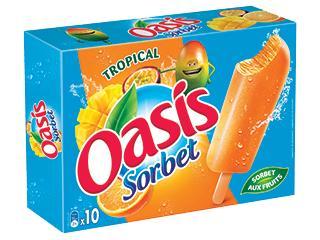 1 Boîte de 10 Sorbets Oasis - plusieurs variétés (via BDR)