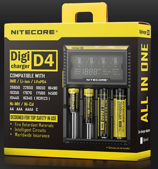 Chargeur intelligent Nitecore D4 - cordon EU à choisir (16.60€ via l'application)