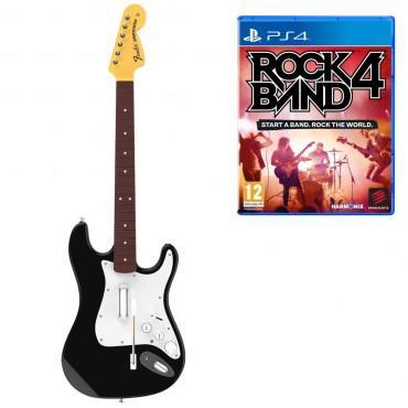 Pack Rock Band 4 + Guitare sans fil Fender Stratocaster sur PS4