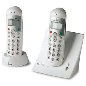 Téléphone sans fil Naf Naf Decto duo + 1 combiné supplémentaire S9993 Blanc