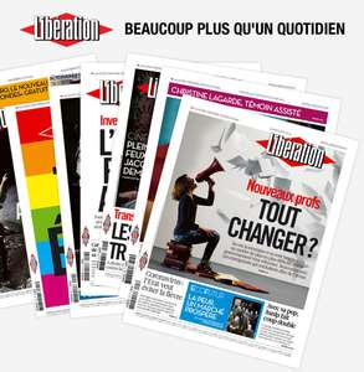 Un exemplaire du journal Libération gratuit