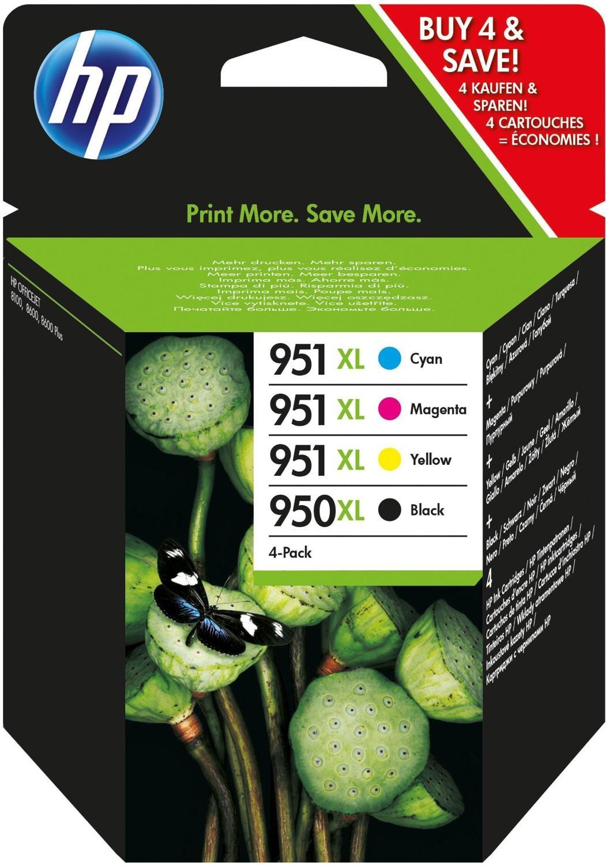 Pack de Cartouche d'encre HP 950/951XL Noir/Tricolore