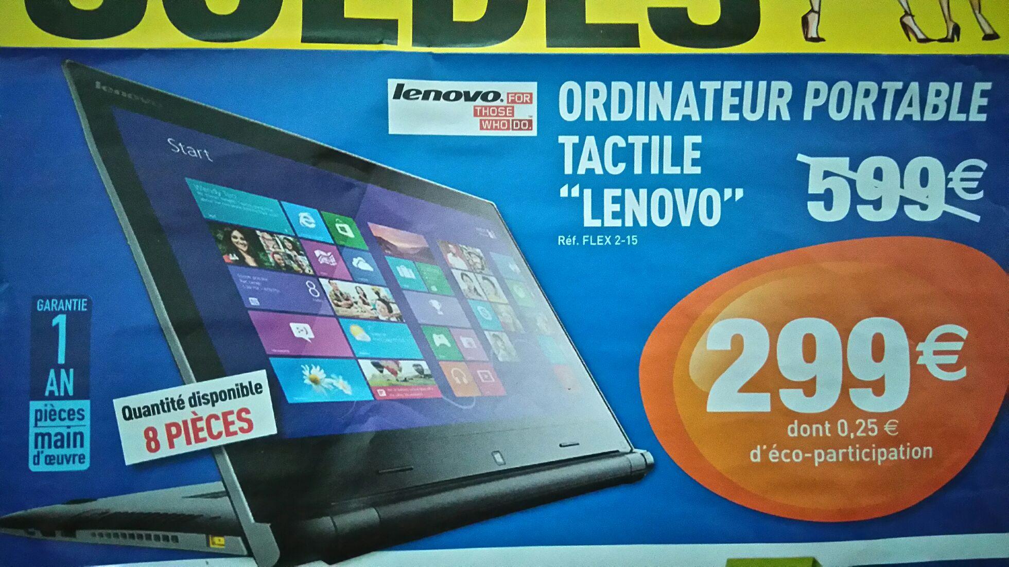 """PC Portable hybride 15.6"""" Lenovo flex2-15"""