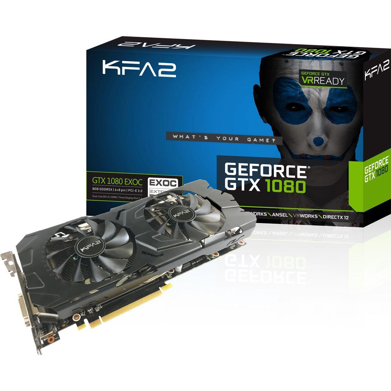 Carte graphique KFA2 GeForce GTX 1080 EX OC