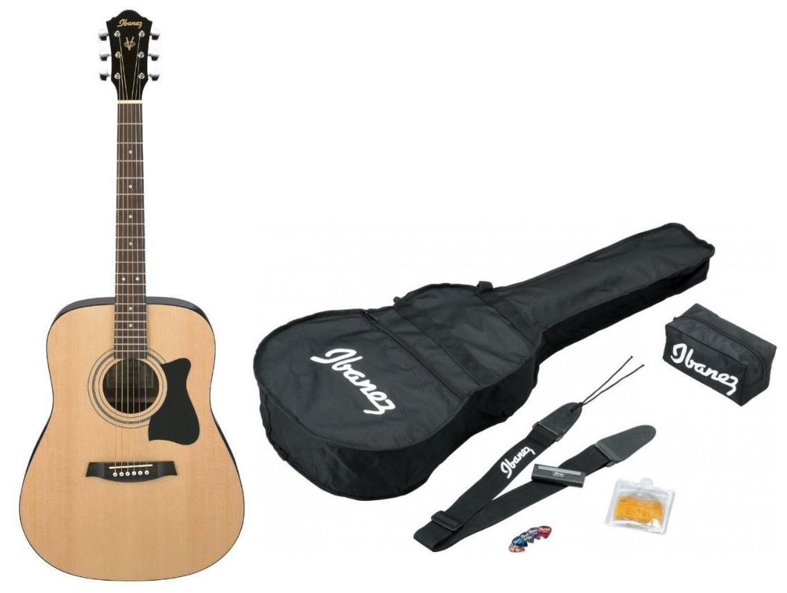 Guitare Ibanez V50NJP-NT avec Kit d'accessoires