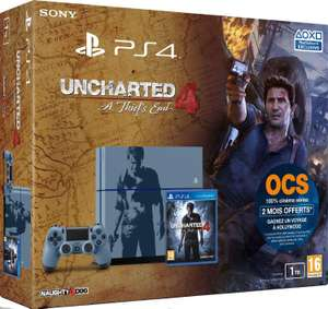 Console PlayStation 4 1 To + Uncharted 4: A Thief's End - édition limitée