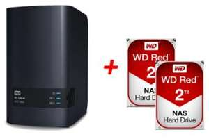 Pack NAS Western Digital My Cloud EX2 Ultra + 2 disques durs WD Red 2 To