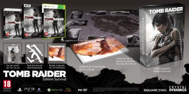 Tomb Raider Edition Collector Survival sur PC à 29.99€ et sur PS3 & XBOX 360