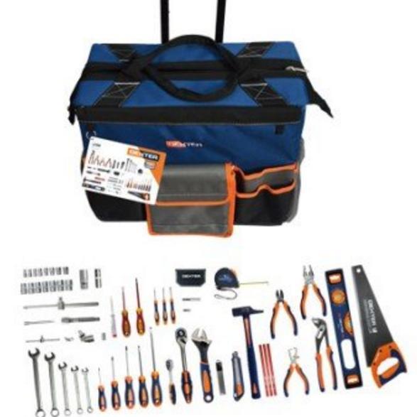 sac d 39 outils dexter roulette 109 outils coffret douilles. Black Bedroom Furniture Sets. Home Design Ideas