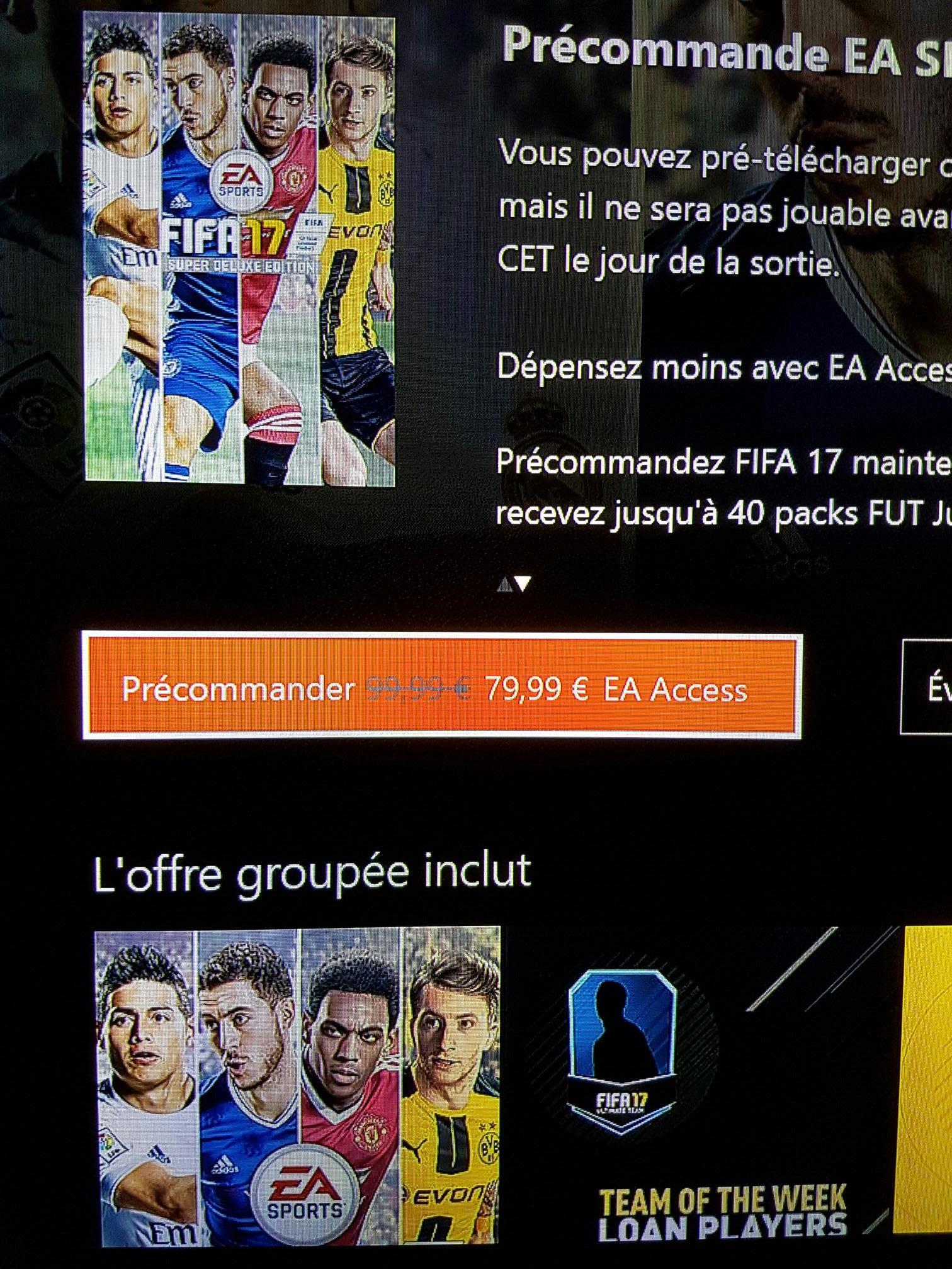 [En précommande sous conditions] FIFA 17 Edition Super Deluxe sur Xbox One (Dématérialisé)