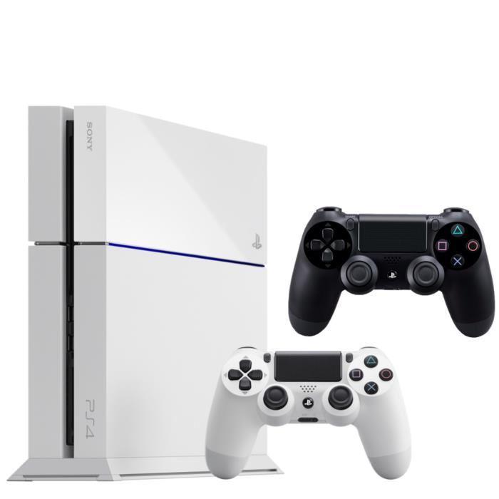 Pack PS4 500 Go + 2 Manettes Noire ou Blanche (châssis C)