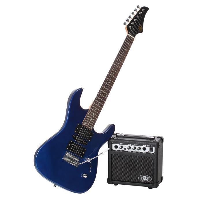 Pack Guitare Legend + Ampli Bleu