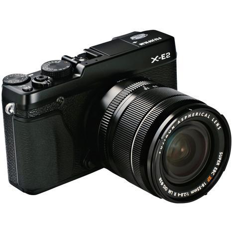 Appareil photo hybride Fujifilm Kit X-E2 + objectif 18-55mm (noir ou argent)