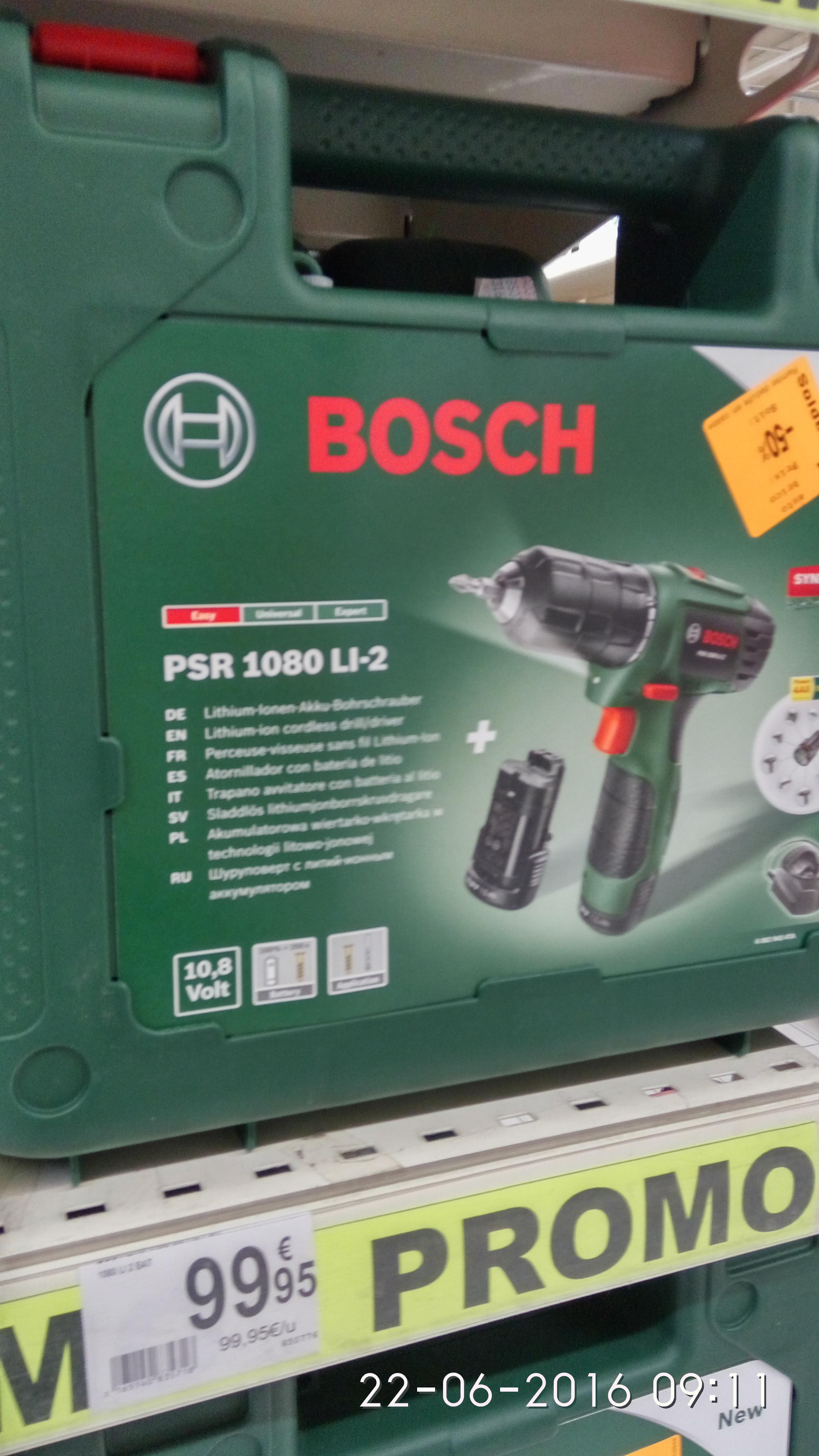 Sélection de produits Bosch en promotion - Ex : perceuse-visseuse Bosch PSR 1080 LI-2