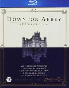Coffret Blu-ray Downton Abbey - Intégrale saisons 1 à 4 [Import Belge]