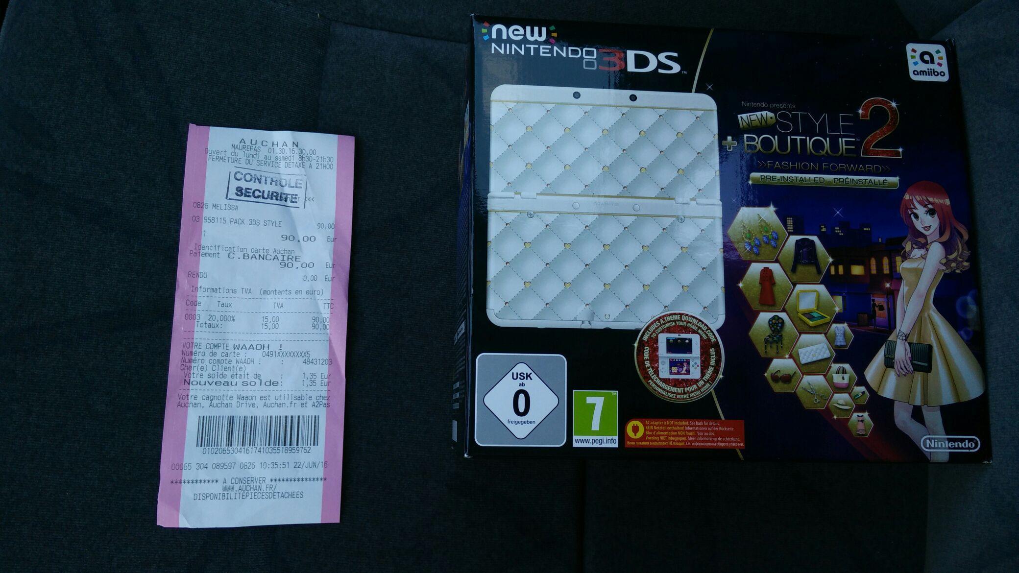Sélection de consoles Nintendo New 3DS en soldes - Ex : New 3DS + New Style Boutique 2