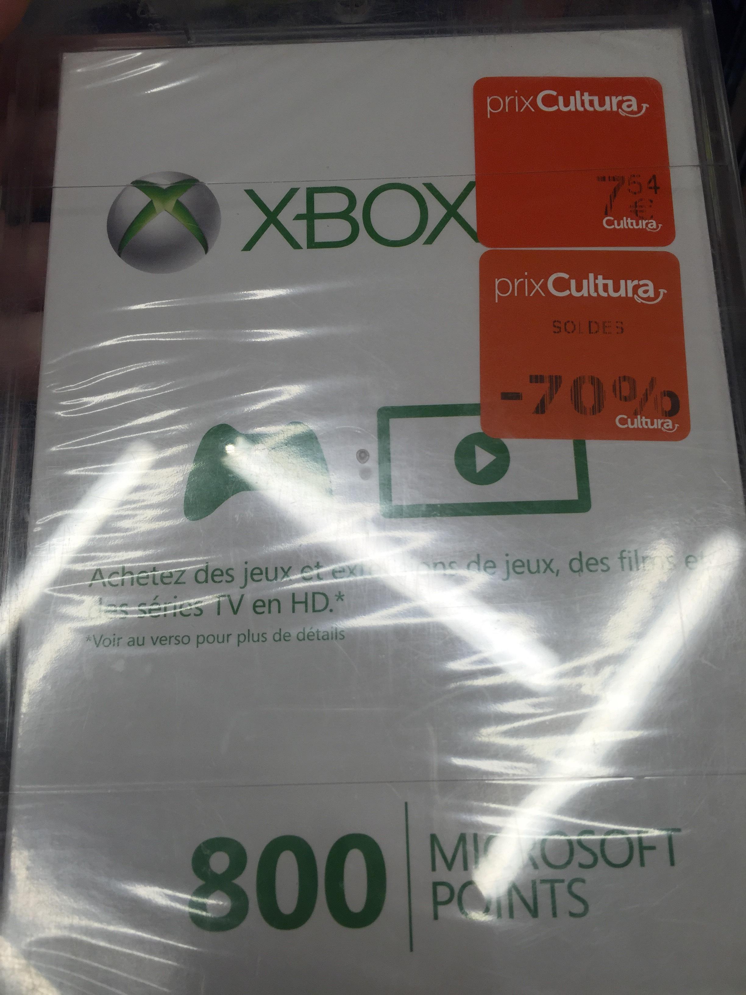800 Points Microsoft Xbox Live