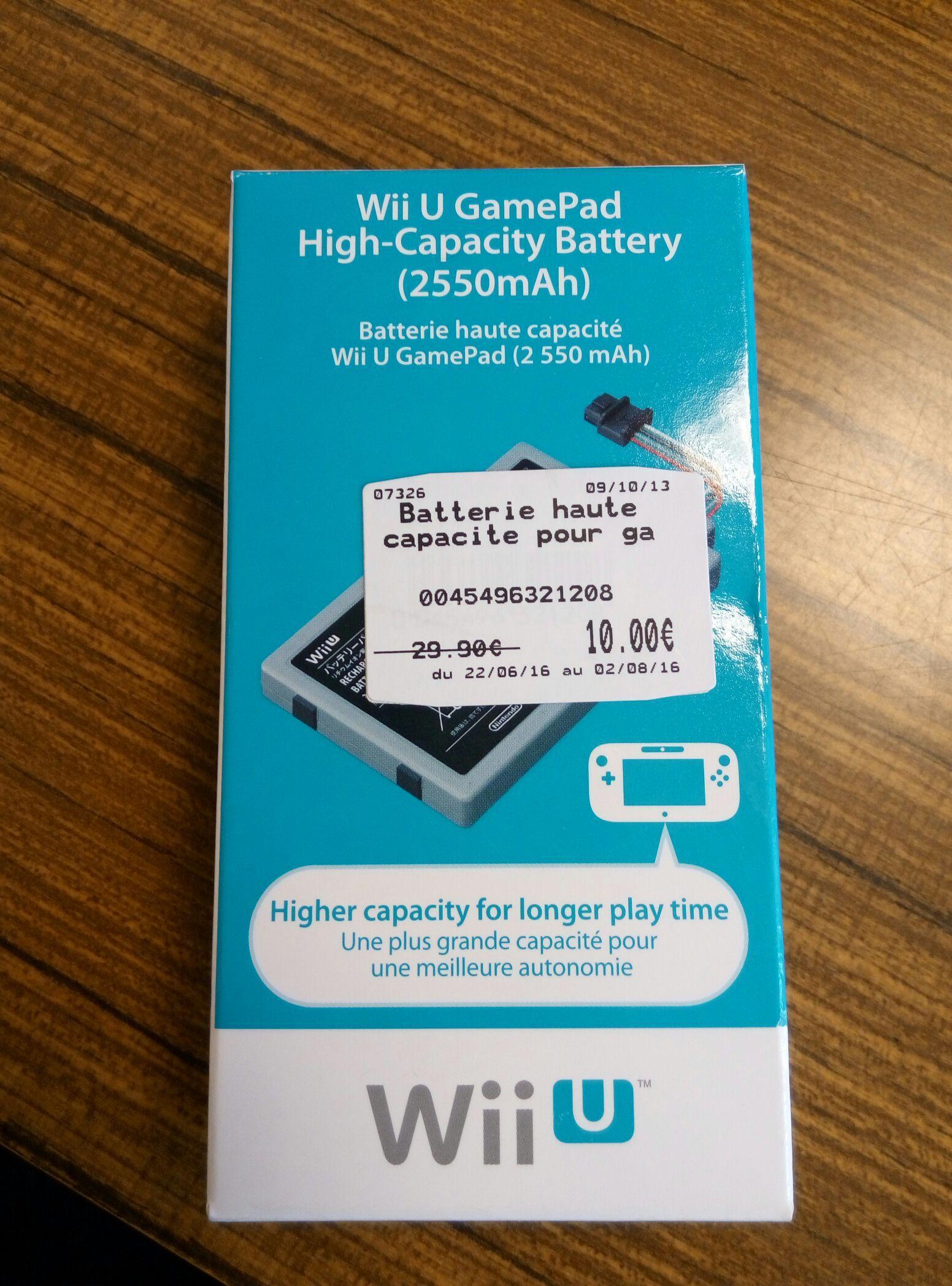 Batterie pour manette Nintendo Wii U (2550 mAh)