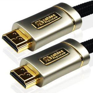 Câble HDMI Cablesson XO 1.4 blindé/tressé connecteurs plaqués or 1,5m