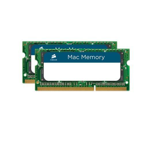 Kit de RAM Corsair Mac Memory SO-DIMM DDR3 PC3-10666 CL9 - 16 Go (2x8)