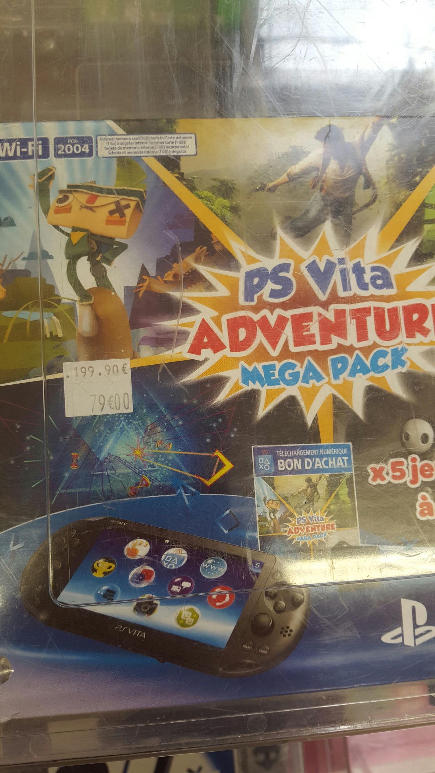 Console Sony PS Vita + Adventure Méga Pack + Carte mémoire 8 Go