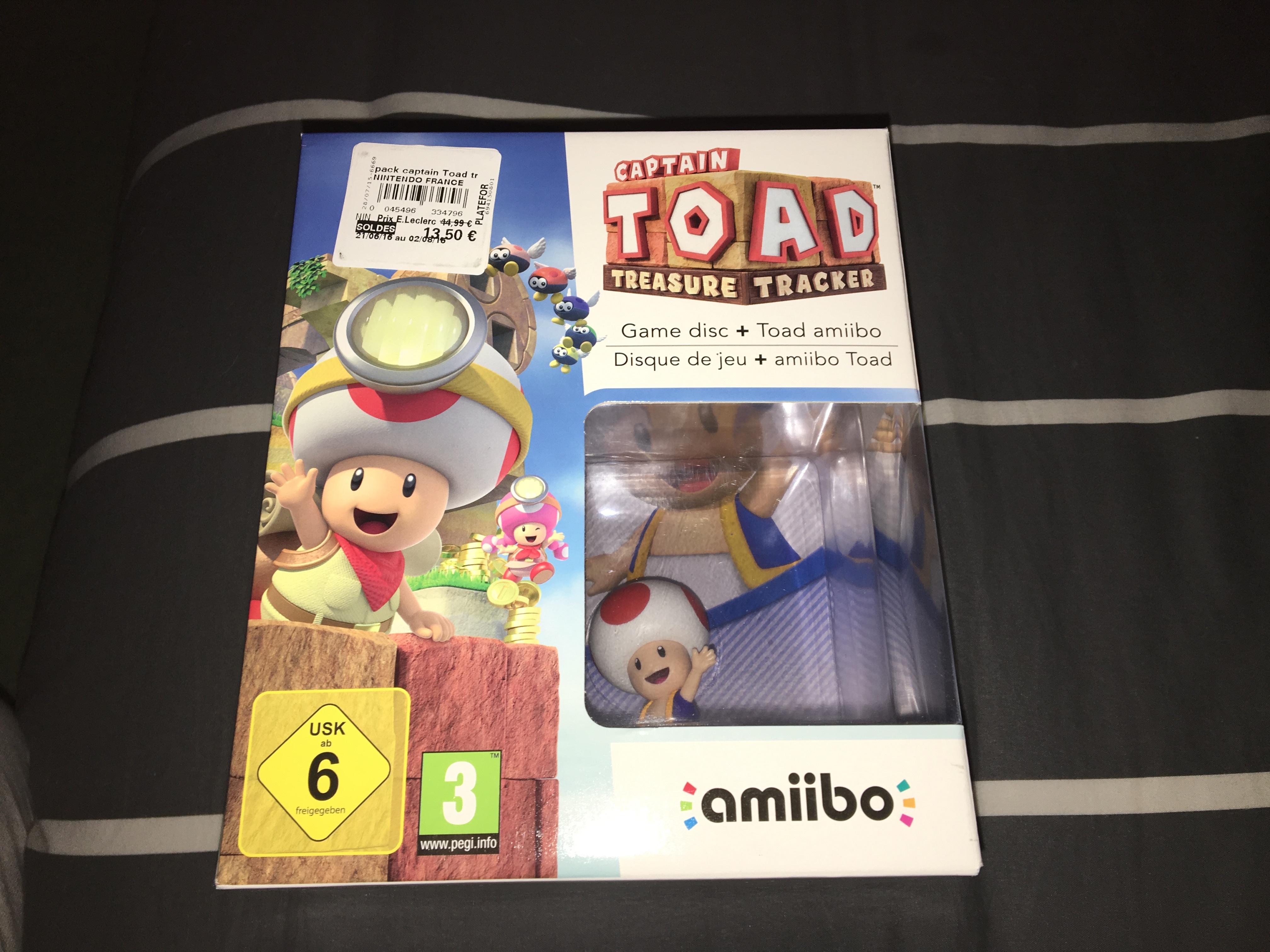 Sélection de jeux-vidéo en promotion - Ex : Captain Toad Treasure Tracker + Amiibo sur Wii U