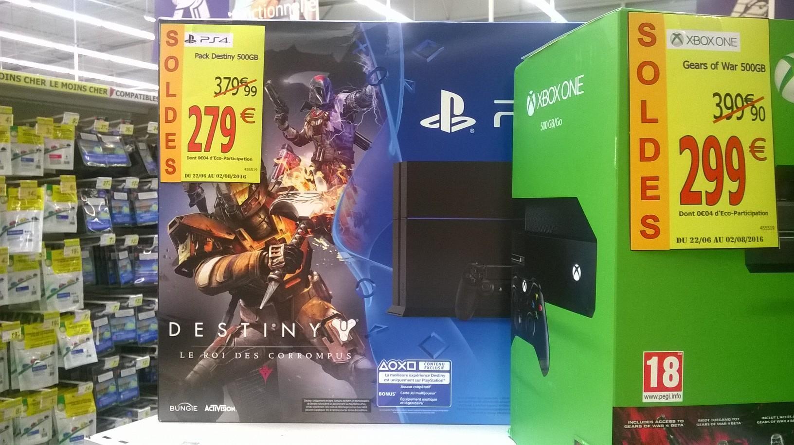 Console PS4 500Go avec le Jeu Destiny Le Roi Des Corrompus