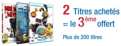 """2 DVD d'une sélection """"Petites Stars"""" achetés = le 3ème offert"""