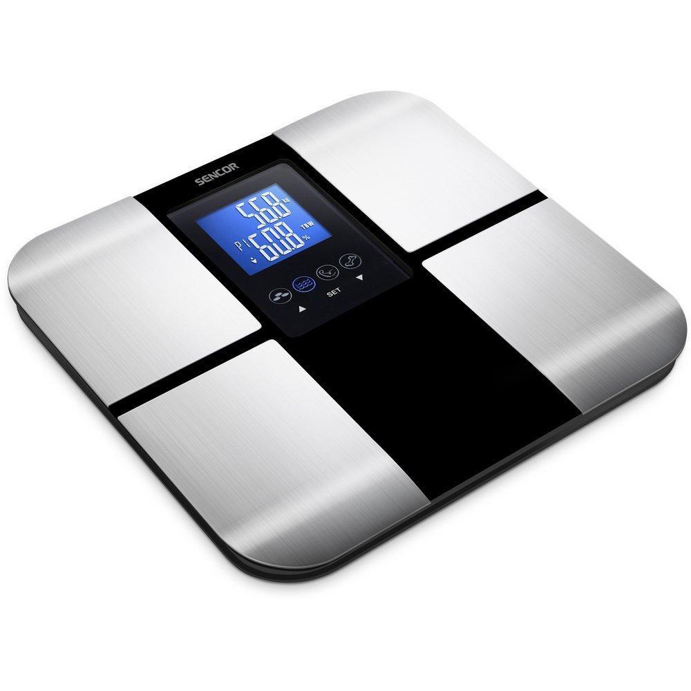 Pèse-personne Sencor SBS 6015BK (Mémoire pour 8 utilisateurs avec identification automatique de l'utilisateur)